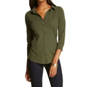 Women's button down top Merona olive NEW XXL